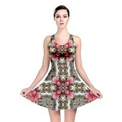 Flowers Fabric Reversible Skater Dress