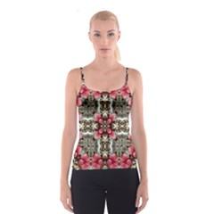 Flowers Fabric Spaghetti Strap Top