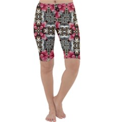 Flowers Fabric Cropped Leggings