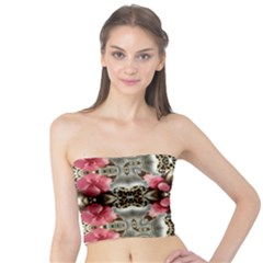 Flowers Fabric Tube Top
