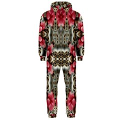 Flowers Fabric Hooded Jumpsuit (men)