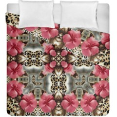 Flowers Fabric Duvet Cover Double Side (king Size)