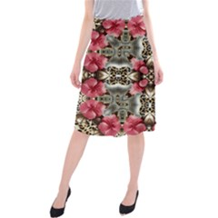 Flowers Fabric Midi Beach Skirt