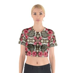 Flowers Fabric Cotton Crop Top