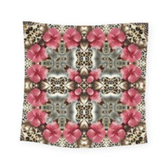 Flowers Fabric Square Tapestry (small)