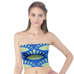 Sea Shells Blue Yellow Tube Top