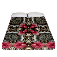 Flowers Fabric Fitted Sheet (california King Size)