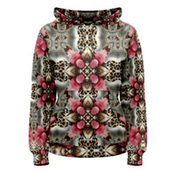 Flowers Fabric Women s Pullover Hoodie
