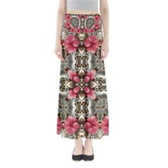 Flowers Fabric Maxi Skirts