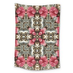 Flowers Fabric Large Tapestry