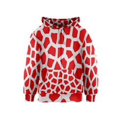 Animal Animalistic Pattern Kids  Zipper Hoodie