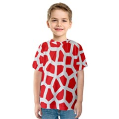 Animal Animalistic Pattern Kids  Sport Mesh Tee