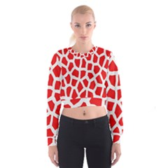 Animal Animalistic Pattern Women s Cropped Sweatshirt