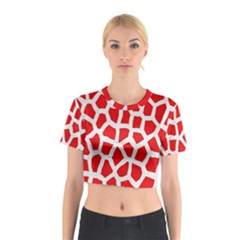 Animal Animalistic Pattern Cotton Crop Top