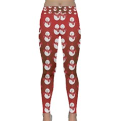 Card Cartoon Christmas Cold Classic Yoga Leggings