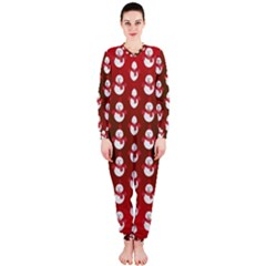 Card Cartoon Christmas Cold Onepiece Jumpsuit (ladies)