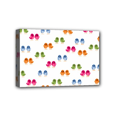 Pattern Birds Cute Design Nature Mini Canvas 6  X 4