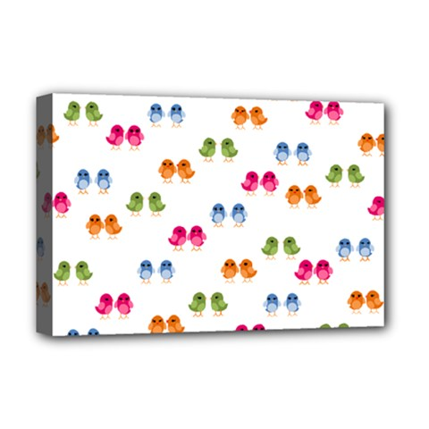 Pattern Birds Cute Design Nature Deluxe Canvas 18  X 12