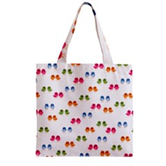 Pattern Birds Cute Design Nature Zipper Grocery Tote Bag