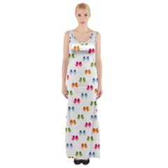 Pattern Birds Cute Design Nature Maxi Thigh Split Dress