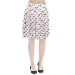 Pattern Birds Cute Design Nature Pleated Skirt
