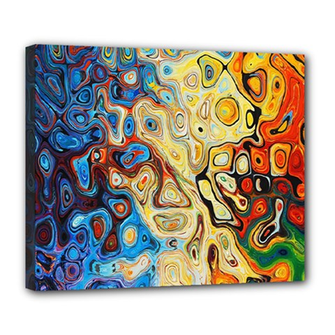 Background Structure Absstrakt Color Texture Deluxe Canvas 24  X 20