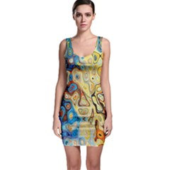 Background Structure Absstrakt Color Texture Sleeveless Bodycon Dress