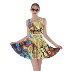 Background Structure Absstrakt Color Texture Skater Dress
