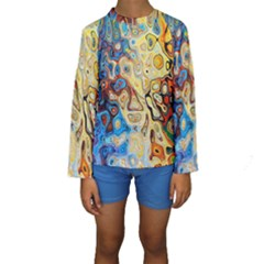 Background Structure Absstrakt Color Texture Kids  Long Sleeve Swimwear