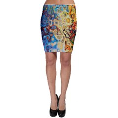 Background Structure Absstrakt Color Texture Bodycon Skirt