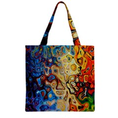 Background Structure Absstrakt Color Texture Grocery Tote Bag