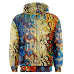 Background Structure Absstrakt Color Texture Men s Zipper Hoodie