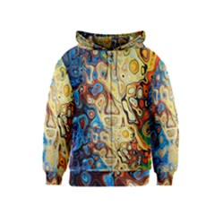 Background Structure Absstrakt Color Texture Kids  Zipper Hoodie