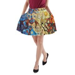 Background Structure Absstrakt Color Texture A Line Pocket Skirt