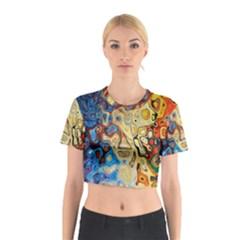 Background Structure Absstrakt Color Texture Cotton Crop Top