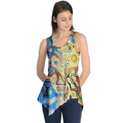 Background Structure Absstrakt Color Texture Sleeveless Tunic