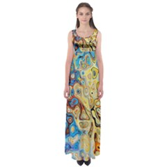 Background Structure Absstrakt Color Texture Empire Waist Maxi Dress