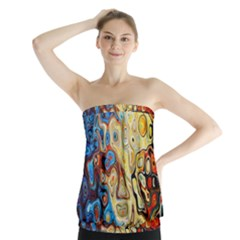 Background Structure Absstrakt Color Texture Strapless Top