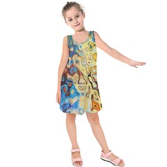Background Structure Absstrakt Color Texture Kids  Sleeveless Dress