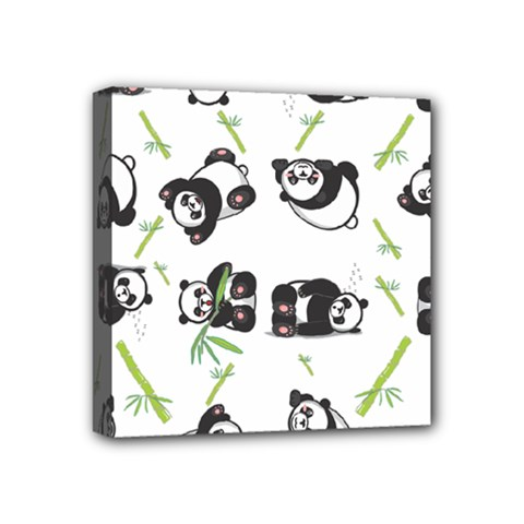 Panda Tile Cute Pattern Mini Canvas 4  X 4