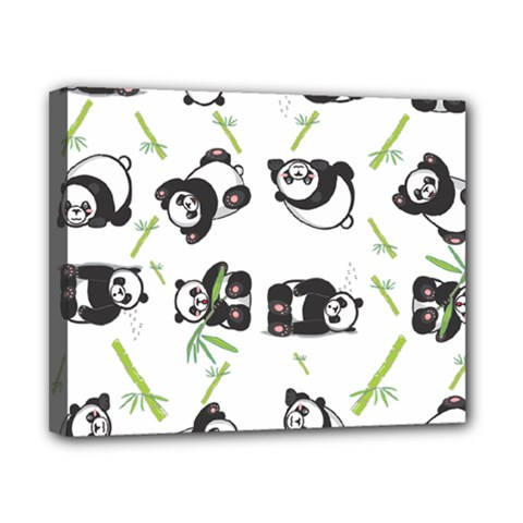 Panda Tile Cute Pattern Canvas 10  X 8