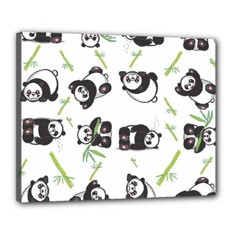 Panda Tile Cute Pattern Canvas 20  X 16