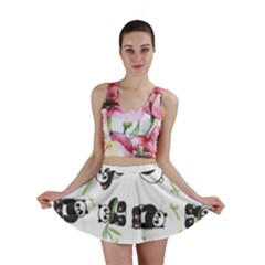 Panda Tile Cute Pattern Mini Skirt