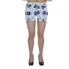 Panda Tile Cute Pattern Skinny Shorts