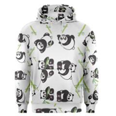 Panda Tile Cute Pattern Men s Pullover Hoodie
