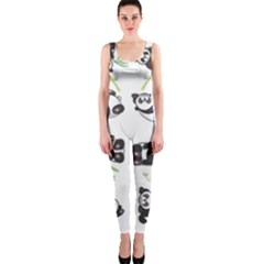 Panda Tile Cute Pattern Onepiece Catsuit