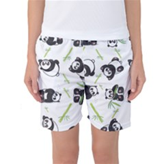 Panda Tile Cute Pattern Women s Basketball Shorts