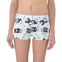 Panda Tile Cute Pattern Boyleg Bikini Bottoms