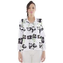 Panda Tile Cute Pattern Wind Breaker (women)