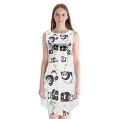 Panda Tile Cute Pattern Sleeveless Chiffon Dress